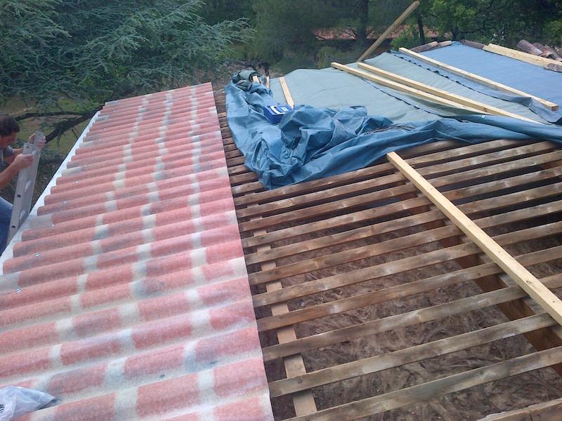 Réalisation de toiture avec tuiles canal