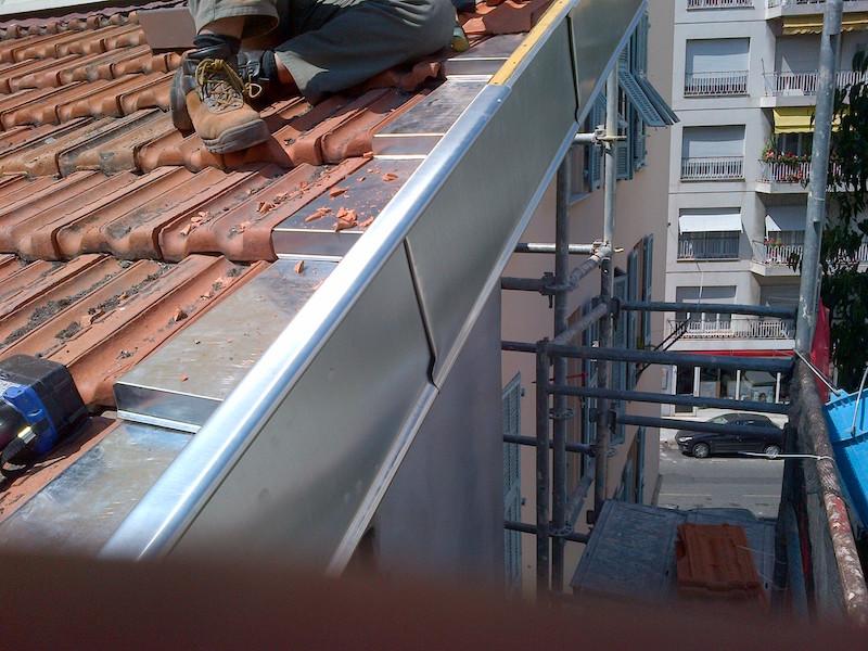 Bardage de toit réalisé par STA